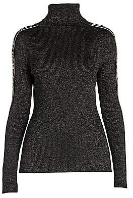 Off-White Women's Lurex Logo Turtleneck Sweater
