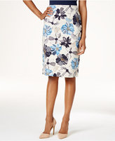 Charter Club Floral-Print Pencil Skirt, Only at Macy's