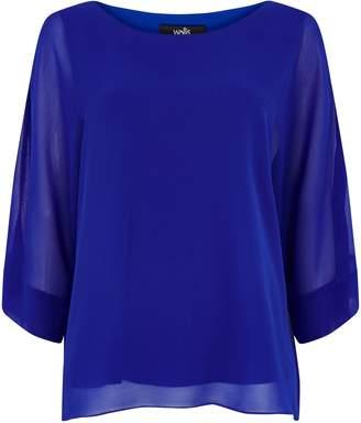Wallis **TALL Blue Overlay Blouse