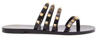 Valentino Rockstud Flair Leather Sandals - Black