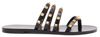 Valentino Rockstud Flair Leather Sandals - Womens - Black