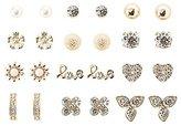 Charlotte Russe Embellished Love Stud Earrings - 12 Pack