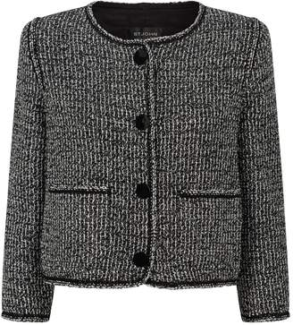 St. John Metallic Tweed Jacket