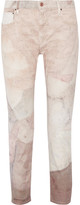 Isabel Marant Valone printed high-rise skinny jeans