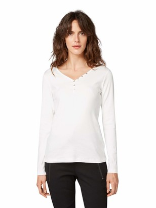 Tom Tailor Casual Women's Henley Long Sleeve Top