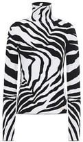Just Cavalli Zebra-jacquard Turtleneck Sweater