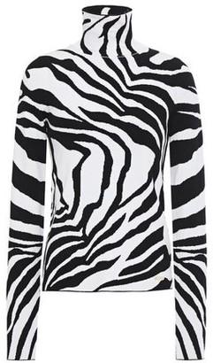 Just Cavalli Zebra-jacquard Turtleneck Sweater