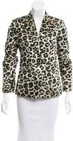 Alice + Olivia Brocade Leopard Pattern Blazer
