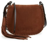 AllSaints Mori Suede Crossbody Bag - Brown