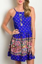 Sage Paisley Print Dress