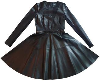Yigal Azrouel Black Leather Dress for Women