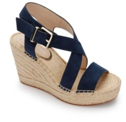 Kenneth Cole New York Olivia Cross Wedge Sandals Women's Shoes