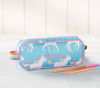 Pottery Barn Kids Mackenzie Aqua Unicorn Parade Pencil Case