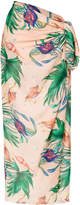 BRIGITTE crab print cover-up
