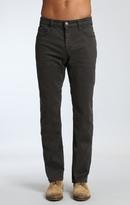 Mavi Jeans Zach Straight Leg In Coal Twill