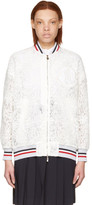 Moncler Gamme Rouge White Lace Lauren Bomber Jacket