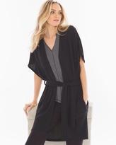 Soma Intimates Chunky Knit Robe Black