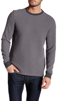 Micros Crew Neck Long Sleeve Waffle Knit Pullover