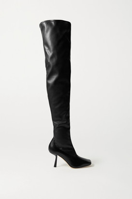 Jimmy Choo Mire 85 Leather Over-the-knee Boots - Black