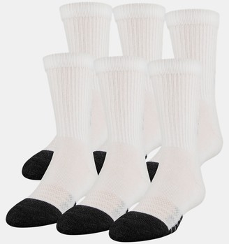 Under Armour Kids' UA Performance Tech Crew Socks 6-Pack