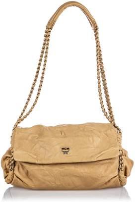 MCM Brown Leather Chain Shoulder Bag