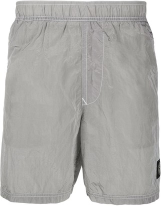 Stone Island metallic running shorts