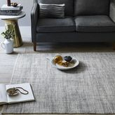 west elm Mid-Century Heathered Basketweave Wool Rug - Steel