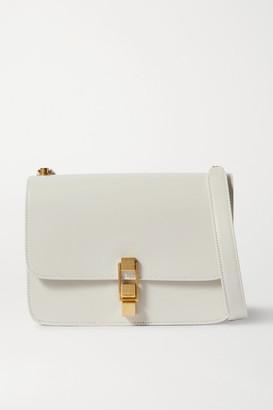 Saint Laurent Carre Leather Shoulder Bag - White
