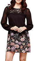 Yumi Oriental Botanical Tunic Dress, Black