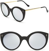 Illesteva Mirrored Palm Beach Sunglasses, 49mm