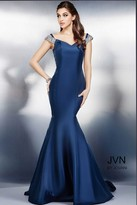 Jovani Off the Shoulder Long Mermaid Prom Dress JVN23455