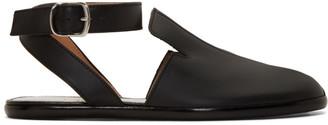 Maison Margiela Black Open Back Tabi Loafers