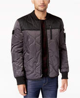 Members Only Men's Colorblocked Quilted Bomber Jacket
