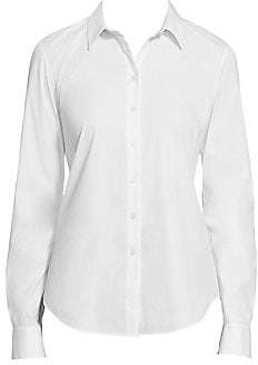 Lafayette 148 New York Women's Montego Stretch Cotton Shirt
