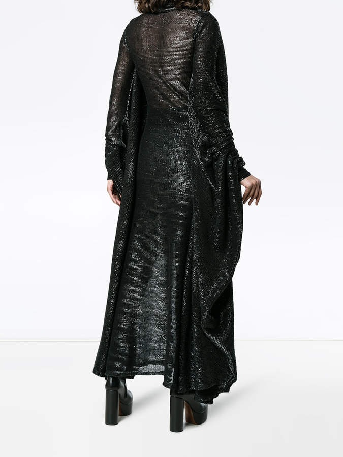Y/Project Y / Project high neck long sleeve sequin gown