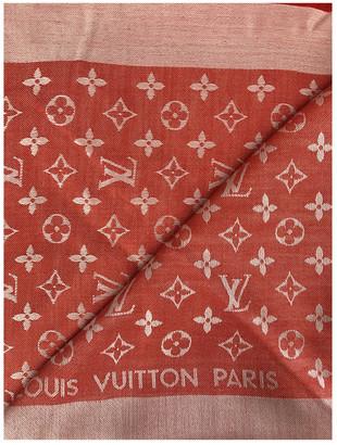 Louis Vuitton ChAle Monogram Orange Silk Scarves