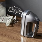 Crate & Barrel KitchenAid ® Silver 9-Speed Contour Hand Mixer