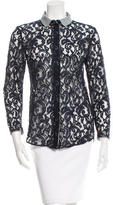 Carven Lace Button-Up Top