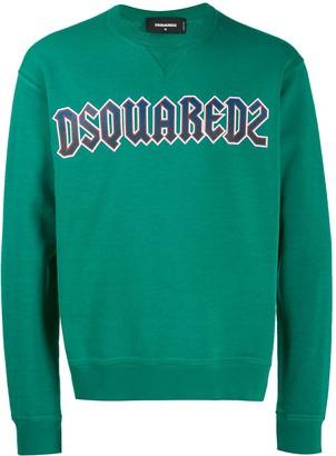 DSQUARED2 logo printed sweatshirt