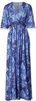 Matthew Williamson Blue Inca Jewel V-Neck Silk Jumpsuit