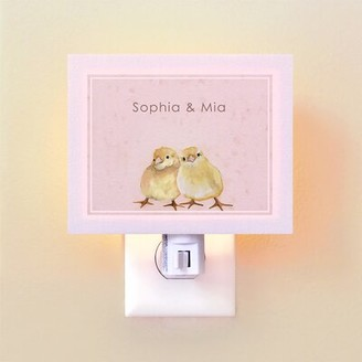 Oopsy Daisy Fine Art For Kids Two Chicks by Cathy Walters Night Light