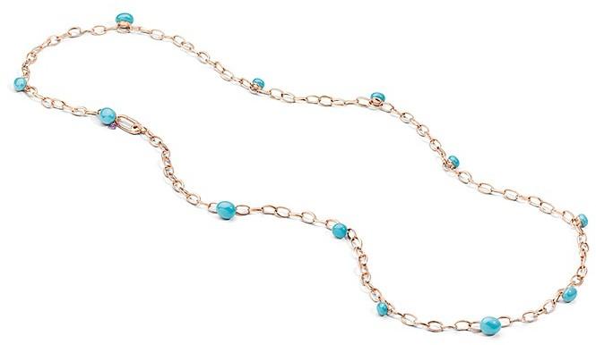 Pomellato Capri Necklace in 18K Rose Gold with Turquoise Ceramic