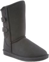 BearPaw Black Distressed Boshie Boot - Women
