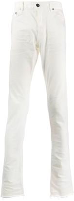 John Elliott Frayed Hem Slim-Fit Trousers