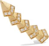 Ileana Makri Rombus 18-karat gold diamond ear cuff
