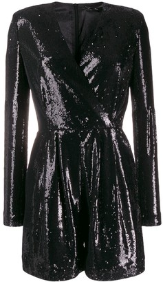 P.A.R.O.S.H. Sequin Embellished Playsuit