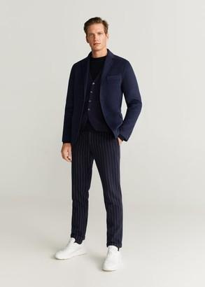 MANGO Buttoned wool-blend waistcoat