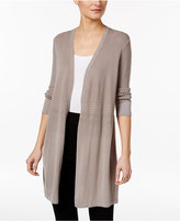 Alfani Petite Open-Front Midi Cardigan, Only at Macy's