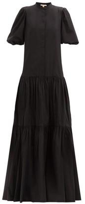 Brock Collection Ramona Cotton-blend Poplin Maxi Shirt Dress - Black