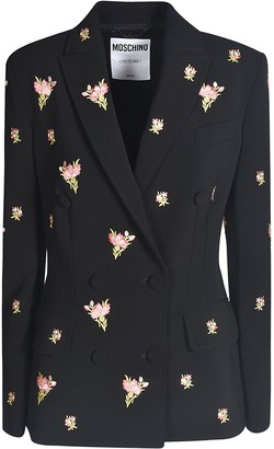Moschino Floral Motif Double-breasted Blazer